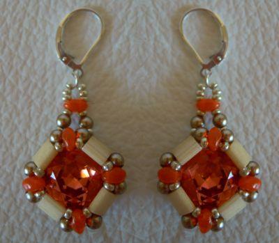 Kit boucles d'oreilles Tila Cub' Orange