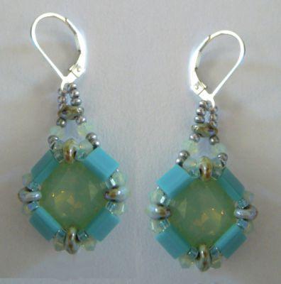 Kit boucles d'oreilles Tila Cub' Turquoise