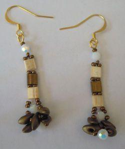 Kit boucles d'oreilles Tila Bronze doré