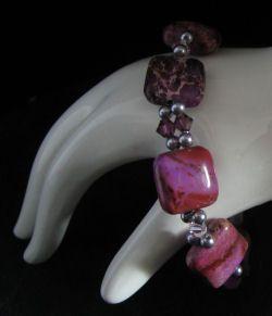 Kit pour bracelet aux carrés Jaspe violet