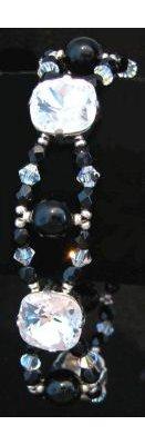 Kit bracelet Glénan Noir et Crystal