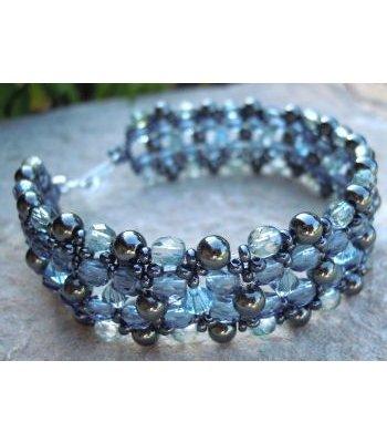 Kit bracelet Latitude Bleu Hématite