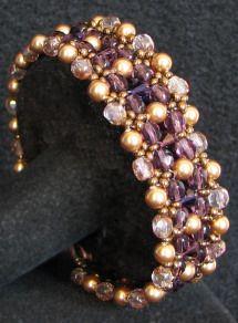 Kit bracelet Latitude Prune or