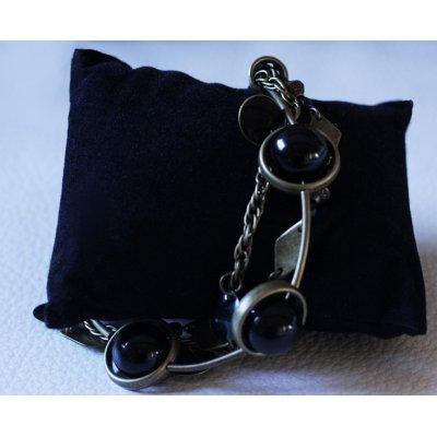 Kit bracelet 3 rangs Noir & bronze