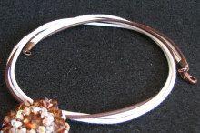 Kit collier cordons marron/blanc