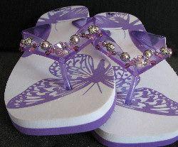 Kit customisation de tongs Violet