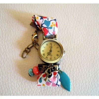 Kit montre bracelet Liberty Nina Bleu corail