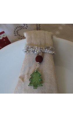Kit rond de serviette Sapin de Noël