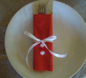 Kit pour rond de serviettes de Noël avec pendentif
