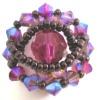 Magenta Ceylan bead ring pattern