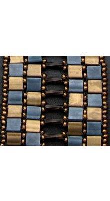 Miyuki Tila 5mm  Mat Gunmetal  x 25