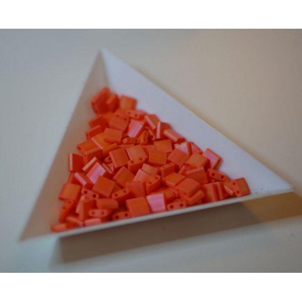 Miyuki Tila 5mm Opaque Orange Mat Ab  x 25