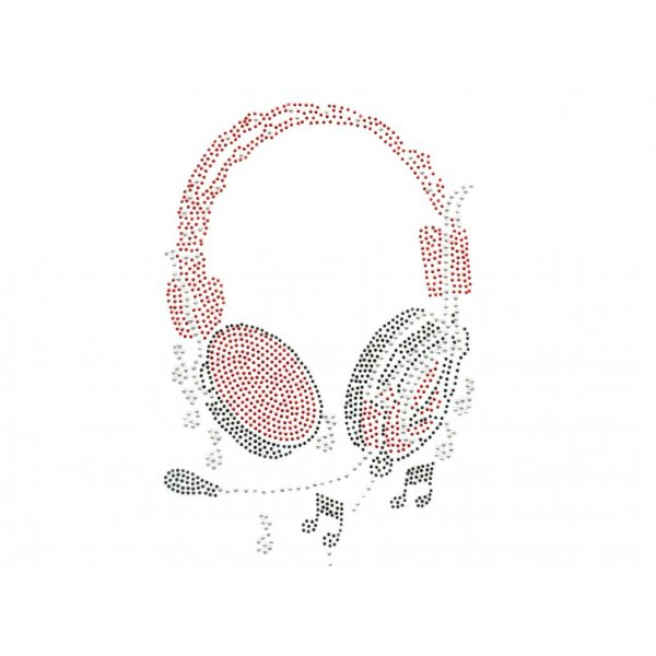 MOTIF STRASS CASQUE AUDIO