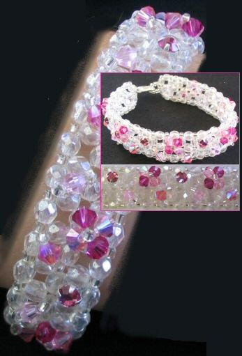 Notice de bracelet agate rose
