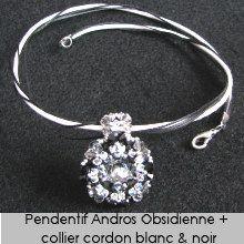 Pendentif en kit Andros Obsidienne