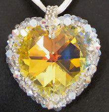Pendentif en kit Grand coeur Cristalia
