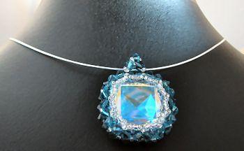 Pendentif Swarovski fantaisie Bleu