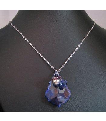 Pendentif  pampille Swarovski violet