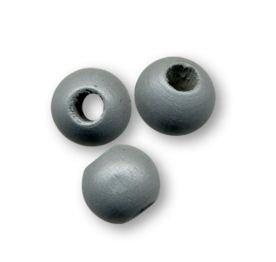 Perles en bois rondes Grises 8mm  x 10