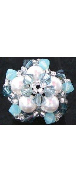 Perles nacrées White 5810 6mm x10