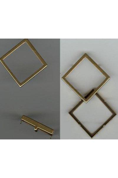 Sertissure carré évidé 20mm doré vieilli