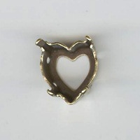 Sertissure coeur 11x10mm doré vieilli