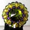Shetland Olivine bead ring