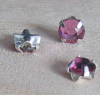 Strass 4mm Light rose x 10
