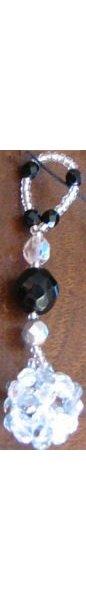 Suspension en kit Boule Noir & argent