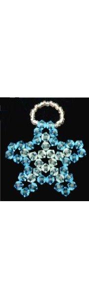 Suspension en kit Etoile de cristal Bleu aqua