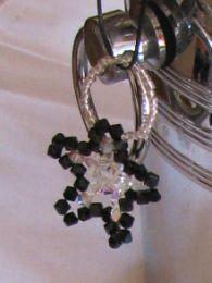 Suspension en kit Etoile Noir & cristal