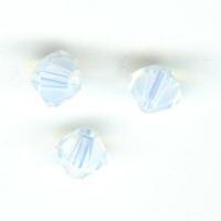 Toupie 4mm white opal x 12