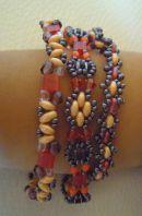 Trio de bracelets Twin Corail/Mauve en kit