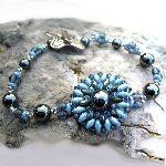 Bracelet en kit Margarita Bleu & Hématites