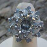 Ensemble de 12 notices de bagues en perles