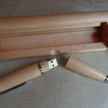 Coffret et stylo clé Usb 16 Go en bois à graver