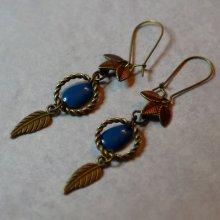 Boucles d'oreilles Bohème Bleu