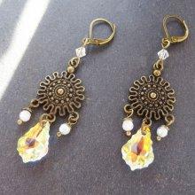 Boucles d'oreilles Bohème Swarovski Crystal