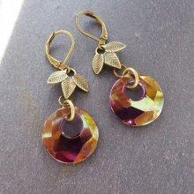 Boucles d'oreilles Bohème Swarovski Lilac