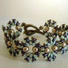 Bracelet Coquet Violet/vert