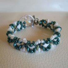 Bracelet Silky Blanc Sarcelle