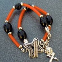 Bracelet Halloween en Tube Orange