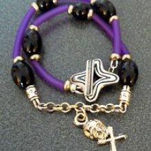 Bracelet Halloween en Tube Violet