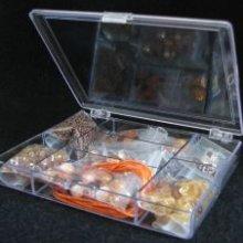 Boîte de perles cristal Ambre