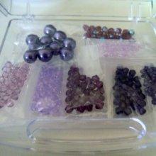 Boîte de perles Camaïeu de Violets Swarovski