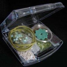 Boîte de perles en cristal Vert
