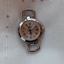 Cadran de montre argenté style vintage