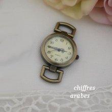 Cadran de montre bronze petits chiffres arabes