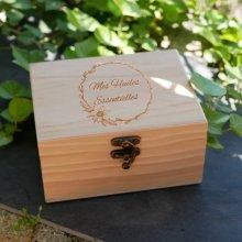 Coffret à huiles essentielles en bois gravé à personnaliser