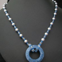 Collier pendentif Cosmic Ceramic blue